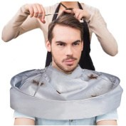 Sansee DIY Hair Cutting Cloak Umbrella Cape Salon Barber Salon And Home Stylists Using,Professional Beard Bib Shaving Grooming Apron