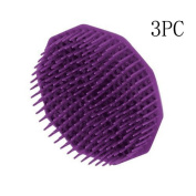 Scalp Massage Comb, Sansee 3pc Healthy Silicone Shampoo Scalp Shower Body Washing Hair Massage Brush Comb
