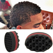 Livecity Hair Small Wave Twists Magic Sponge Brush for Locking Coil Afro Curl Barber Tool