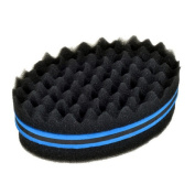 Panlom® Double Side Two in One Hair Sponge Brush Hairstyle Comb for Curls Twist Coil Dreadlocks Afro Hair Style