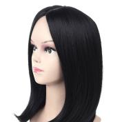 Lovely House Hair Bob Wigs For Black Women Remy Brazilian Elegant Straight Wig Synthetic Hair