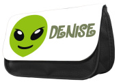 Hiros®Personalised Alien pencil case..make up case, back to school gift,Gift for child,Travel Wash Bag,Cosmetics Pouch Organiser Toiletry Purse Pencil Case Wallet.Christmas custom Gift case.