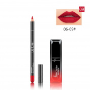 FEITONG Gloss Lip Liner Cosmetics Set, Long Lasting Lipstick Waterproof Matte Liquid Gloss Lip Liner Cosmetics Set