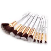 Make up Brushes,   9 PCS   Marble Cosmetic Makeup Brush Blusher Eye Shadow Brushes Set Kit