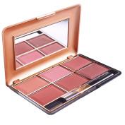 Pu Ran 6 Colours Women Cheek Blusher Blush Powder Palette Makeup Cosmetic with Brush - 014N 02#