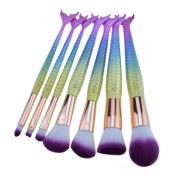Make up Brushes,   7 PCS   Cosmetic Makeup Brush Lip Makeup Brush Eyeshadow Brush, Mermaid Make-up Brush Foundation Brush
