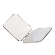 MagiDeal Pocket Mini Square Compact FULL STAINLESS STEEL Cosmetic Foldable Makeup Mirror Magnifying Mirror 2 Sides Will not Break into Pieces