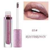 Wawer Long-lasting Shimmer Lipstick Diamonds Lip Cosmetic Beauty Smooth Natural Makeup Tool
