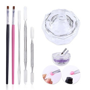 CoulorButtons Quick Building Poly UV Builder Gel Tools Liquid Container Finger Extension Nail Art Tool Set