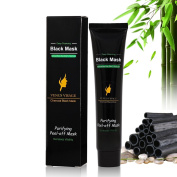 Venus Visage Black Mask,Blackhead Remover Mask,Purifying Peel-off Mask with Activated Charcoal,Deep Cleasing Facial Mask,Shrinking Pores,Brighten Skin,1 tube 60g