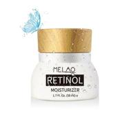 Retinol Moisturiser Cream - Pawaca Anti Ageing Formula with Vitamin A C E,Reduces Wrinkles & Fine Lines & Dark Circles,With 2.5% Active Retinol, Hyaluronic Acid & Green Tea, 50ml