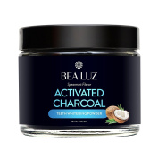 Teeth Whitening Activated Charcoal Powder - From Organic Coconut Shell and Food Grade Formula - All Natural Spearmint Flavour Tooth Whitener