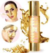 24K Gold Deep Cleansing Peel Off Face Mask Collagen Hyaluronic Acid Vitamin C E Treats Blackheads Pores Acne Cleanser Replenishing Soothing Moisturising Glowing Facial Treatment 50 ml   GOLD BY GLOW