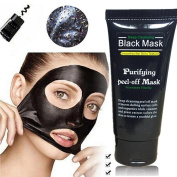 Kxnet Facial Mask Black Mud Deep Cleansing Purifying Peel Off Facail Face Mask Remove Blackhead Facial Mask