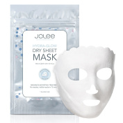 JoLee Hydra-Glow Dry Sheet Mask, NEW & INNOVATIVE Liquid & Mess Free Technology Detox Facial Sheet Mask, Anti-Ageing, Face Revitalising, Instant Glow, Hydrates Refreshes Skin, Multi-use