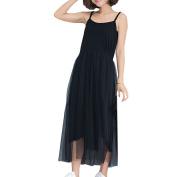 Zhhlaixing Women's Summer Splicing Long Section Sleeveless Dresses Large Loose Gauze Skirt