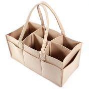 Baby Nappy Caddy Nursery Felt Storage Infant Wipes Bag Nappy Organiser Basket
