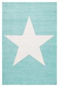 Kids rug Happy Rugs STAR mint/white 100x160cm
