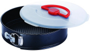 Large 26cm Springform Cake Tin With Lid & Carry Handle Round Oven Cake Tin