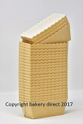 Bakery direct 100 Vanilla colour disposable Mini Loaf/cake moulds
