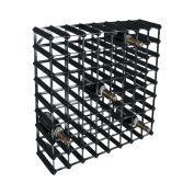 Zodiac ZWINE0076 72 Bottle 8 x 8 Black Ash Pine/Kit Wine Rack