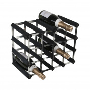 Zodiac ZWNRK4151 16 Bottle 4 x 3 Black Ash Pine/Assembled Wine Rack