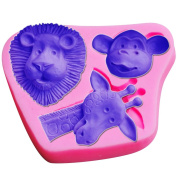 WILD ANIMALS Party Silicone Mould Fondant Cake Decorating Topper