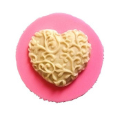 Wicemoon Lace Heart-Shaped Sugar Cake Mould Baking DIY Silicone Mould Make Mould