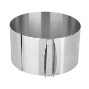 Mmrm Stainless Steel Adjustable Round DIY Cake Ring Cake Mould Mousse Circle Mould Silver