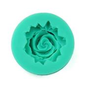 Dosige 1 Pcs Purple Silicone Rose Flower Fondant Cake Sugarcraft Mould DIY Tools, Random Colour