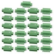Unique Bargains 25Pcs LC1M AC300V 8A 3.5mm Pitch 6P PCB Mount Terminal Block Wire Connector