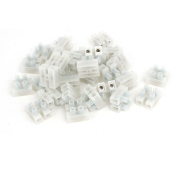 PA10-2P 450V H Type Insulated Screw Terminal Blocks Strips Wire Connectors 30pcs