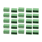 25Pcs AC 300V 8A 3.5mm Pitch 4P Terminal Block Wire Connector f PCB Mounting