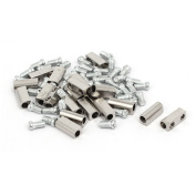 3mm Dia Brass Nickel Plated Terminal Blocks Electrical Wire Connectors 20pcs
