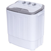 Costway Twin Tub Washing Machine Home Washer Spin Dryer Portable Compact Mini 5.6KG