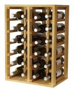 expovinalia Wine Rack for 24 bottles, Wood, light oak, 66 x 46 x 32 cm