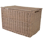 Rose Wash Wicker Extra Large Storage Hamper / Trunk / Basket / Toy Box / Gift Hamper
