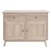 Edvard Olsen Sideboard. Light Oak sideboard with 2 doors and 2 drawers. Quality Oak furniture. Assembled