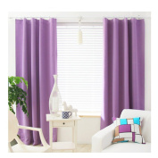Ustide 1 Panel Thermal Insulated Blackout Curtains Room Darkening Windows Curtains Solid Colour Windows Treatment Drapes for Bedroom\ Living Room