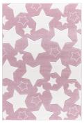 Kids rug Happy Rugs SKY pink/white 120x180cm