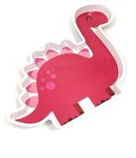 Dinosaur Shaped Melamine Plate Tray - Pink