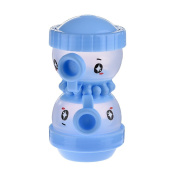 Per Lovely Octopus Shape 2 Layers Milk Powder Box Portable BPA Free Dispenser Fixed-amount Milk Powder Storage & Snacks Container Bottle for Baby-Blue