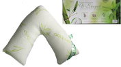 Bamboo V Shape Pillow With Breathable Bamboo Cover Orthopaedic Back Support Maternity Prangnancy & Nursing Anti Bacterial Pillow