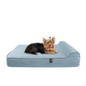 KOPEKS Orthopaedic Memory Foam Dog Bed With Pillow and Waterproof Liner & Anti-Slip Bottom