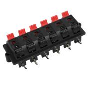 Unique Bargains 12 Terminal 12 Position Spring Loaded Push Speaker Socket Connector Board Black