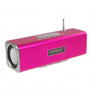 Mp4 SD Card Multimedia Fuchsia Aluminium Music Speaker