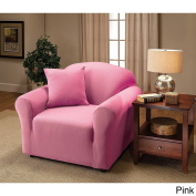 Madison Stretch Jersey Chair Slipcover, Solid, Pink