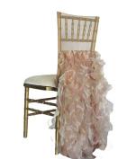Wildflower Linen Curly Willow Chiavari Chair Sleeve, Blush