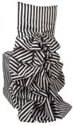 Wildflower Linen Matte Satin Diana Stripe Chiavari Chair Cover, Black/White