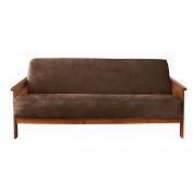 Sure Fit Soft Suede/Sherpa - Futon Slipcover - Chocolate